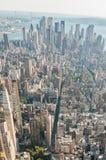有高摩天大楼的纽约全景 图库摄影