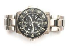有高明的线的一块损坏的手表在时钟表盘 库存照片