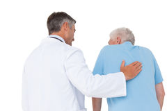 有高级患者的医生 库存照片