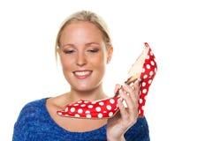 有高跟鞋的妇女 免版税库存照片