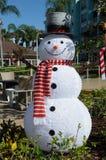 有高顶丝质礼帽克里斯曼庆祝的雪人 免版税库存照片