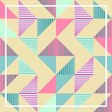 有魄力的淡色三角孟菲斯抽象几何样式背景 免版税库存照片
