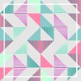 有魄力的淡色三角孟菲斯抽象几何样式背景 库存照片