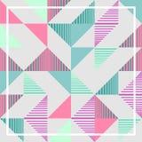 有魄力的淡色三角孟菲斯抽象几何样式背景 库存图片