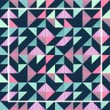有魄力的淡色三角孟菲斯抽象几何样式背景 免版税图库摄影
