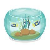 有鱼的动画片水族馆 库存图片