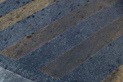 有黄线的抽象柏油碎石地面路路 免版税图库摄影