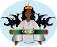 有黑褐色皮肤的天使女王/王后 库存例证