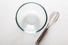 有从上面直接颊须的玻璃碗 库存照片