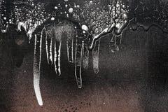 有滴下的黑白油漆13铁锈隐蔽的篱芭 免版税库存照片