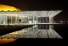有1001个位子的现代被设计的巴林国家戏院 免版税图库摄影
