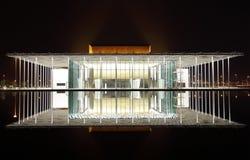 有1001个位子的现代被设计的巴林国家戏院 库存照片