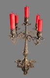有5个蜡烛的烛台 库存图片