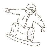 有水兵和红色裤子的运动员在雪板 奥林匹克的挡雪板 奥林匹克体育选拔象  库存例证
