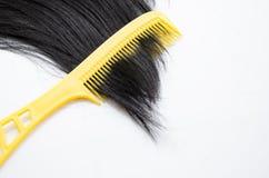 有头发保护的Comp在白色 免版税库存照片