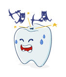 有洞和细菌的牙 图库摄影