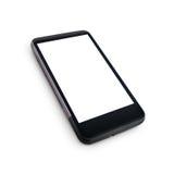 有黑屏的普通手机 图库摄影