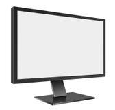 有黑屏的LED计算机Mornitor在白色 库存例证