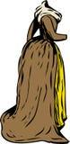 有围巾的18世纪时代礼服 皇族释放例证