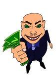 有货币的人 免版税库存照片