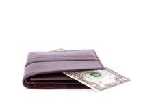 有货币的钱包 库存图片