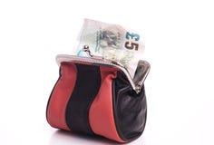 有货币的钱包 免版税库存照片