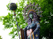有水平的君权的锦砖女神- 库存图片