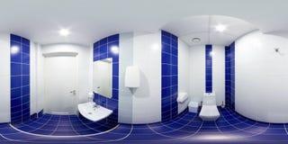 有洗手间和水盆的休息室 库存照片