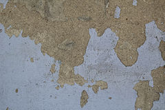 有破旧的油漆的老阴沉的混凝土墙 库存图片