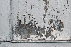 有破旧的油漆的老woodent破裂的墙壁 库存图片