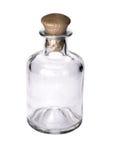 有黄柏的玻璃小瓶 免版税库存图片