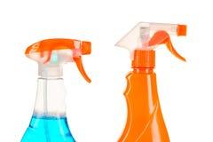 有洗涤剂的两朵浪花瓶 免版税库存照片
