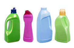 有洗涤剂的塑料瓶 库存照片