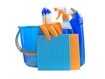 有洗涤剂的桶 免版税库存图片