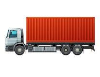 有货物的卡车 免版税库存图片