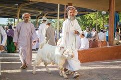 有他的山羊的阿曼人 库存图片