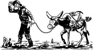 有驴的探油矿者 向量例证