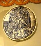 有绘画的装饰的板材 免版税库存照片
