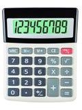 有123456789的计算器在显示 免版税库存照片
