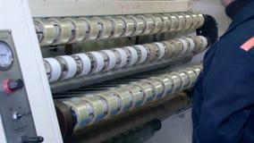 有黏着性应用卷的3绞的磁带 股票录像