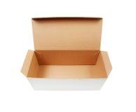 有轻碰开放盒盖的纸板箱 免版税库存图片