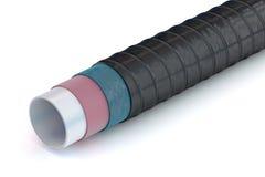 有绝缘材料涂层的管子 向量例证