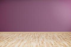 有紫罗兰色墙壁的空的室 图库摄影