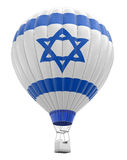 有以色列旗子的(包括的裁减路线热空气气球) 免版税库存图片