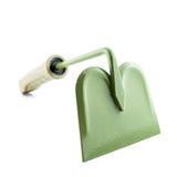 有绿色夹子的园艺工具 库存照片