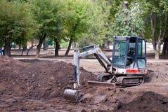 挖掘机建筑机械 库存照片