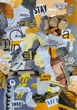有黄色灰色颜色的心情委员会人男孩的 免版税库存图片