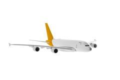 有黄色颜色的飞机 免版税图库摄影