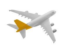 有黄色颜色的飞机 免版税库存照片