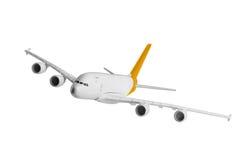 有黄色颜色的飞机 库存图片